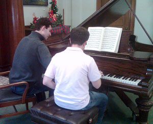 Sean Teaching Piano Lessons