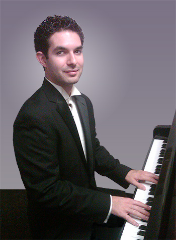 Sean Martinez at the piano